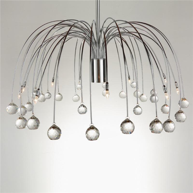 Moderne Luxus Kristall 10 Lichter Trommel Feuerwerk Form Deckenleuchte Beleuchtung Für Schlafzimmer Wohnzimmer G4 Birne CL139 - 3