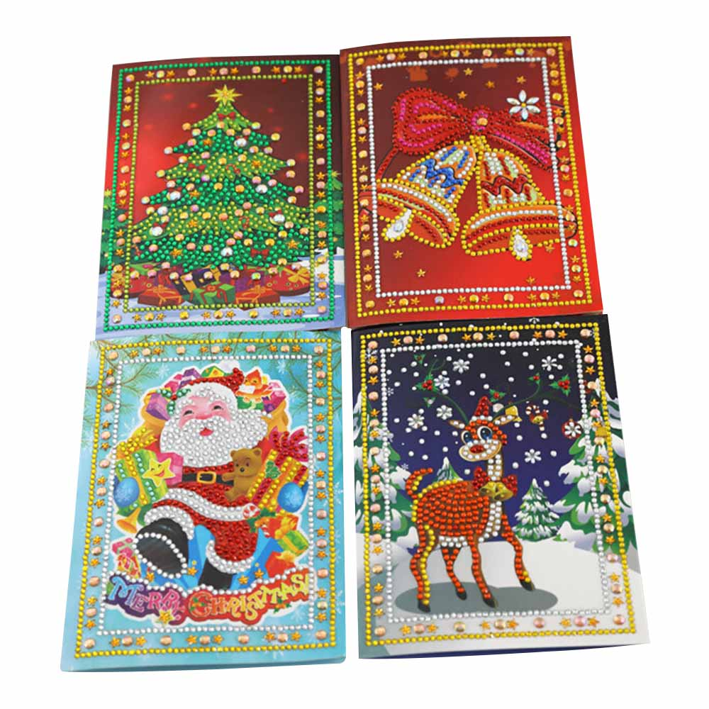 Creative Christmas Deciration DIY Diamond Painting Greeting Card New Year Birthday Wishes Card Greeting Card for Xmas Gift image