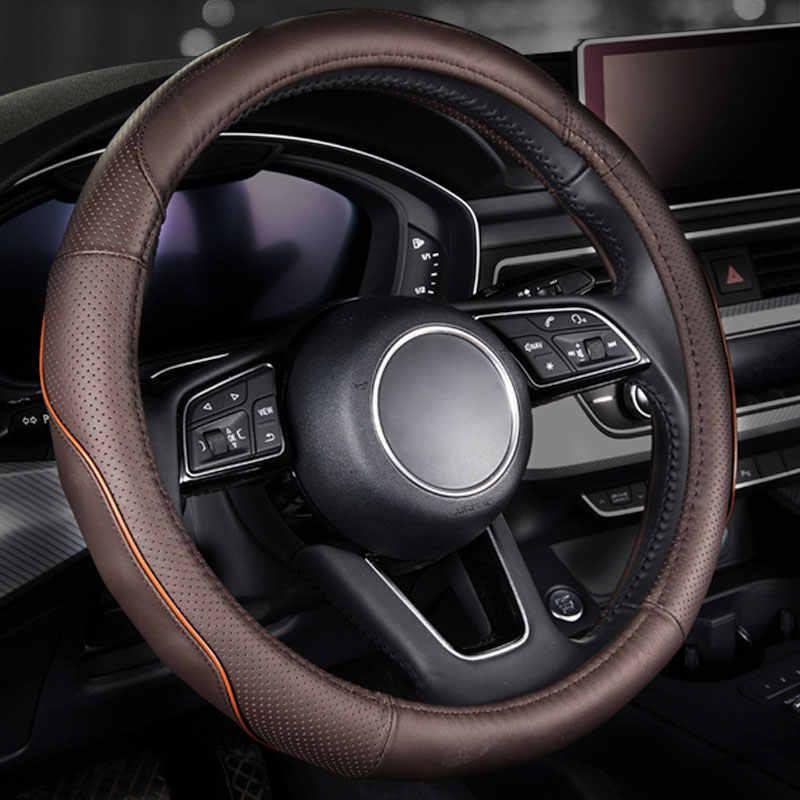 Housse de volant de voiture en cuir véritable protecteur automatique pour nissan cargo j10 j11 teana j31 j32 tiida versa byd f3 g3 g6 l3 s6 f6
