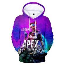 Women Hoodies Kawaii 3D Print Sweatshirt Long Sleeve Women/men Clothes 2019 Hot Sale Apex Legends Casual Kpop Plus Size
