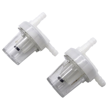 1Pair Clear Durable Universal 1/4Motorcycle Petrol Fuel Filter For Gas Oil Pit Dirt Bike ATV All Kinds Moto Using 6mm Line