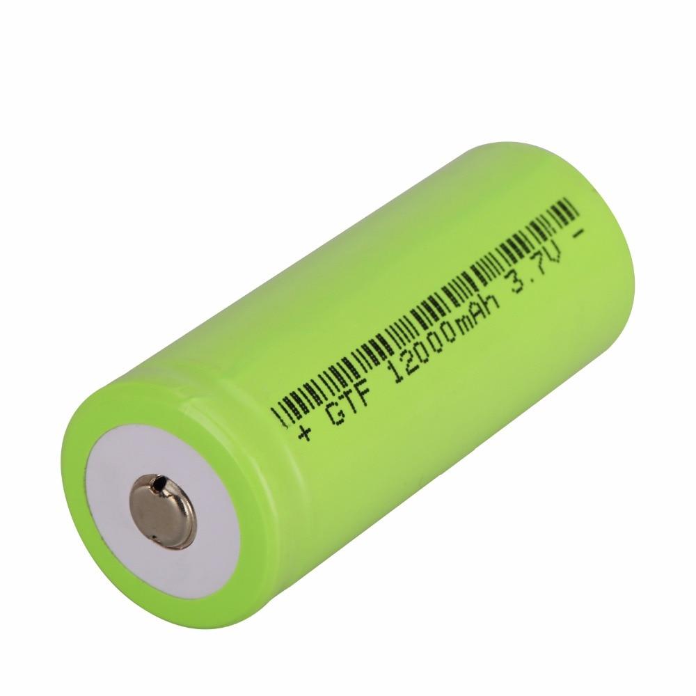 1 Pièces TR 18650 3.7 V 12.000 mAh Li-Ion Batterie Pour DEL Flashlight