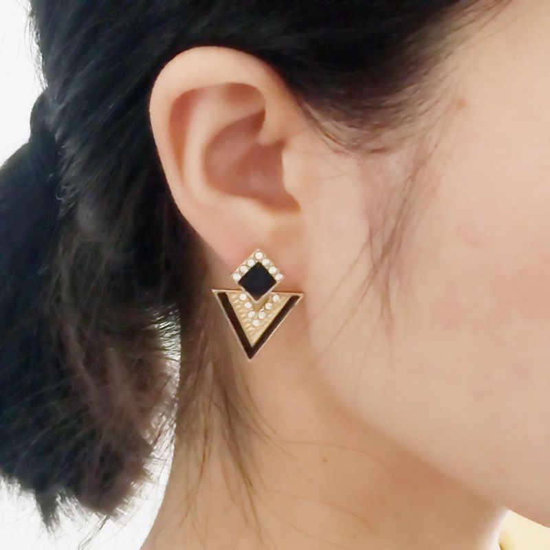 Phụ nữ Bông Tai Chromophous Tam Giác Mùa Hè Phong Cách Dành Cho Nữ Vintage Thương Hiệu Bông Tai Pha Lê Thời Trang Trang Sức Earing 6 màu E0120