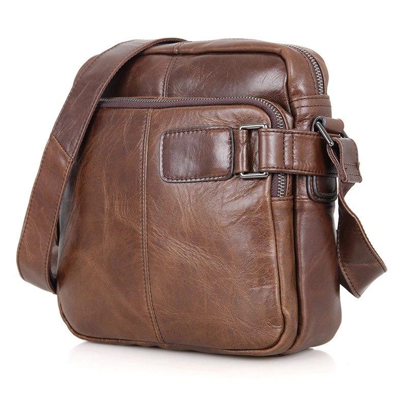 Crossbody Bag For Men Genuine Leather Business Men's Bags Flap Male Messenger Bag Men Leather Small Ipad Holder Shoulder Bags цена 2017