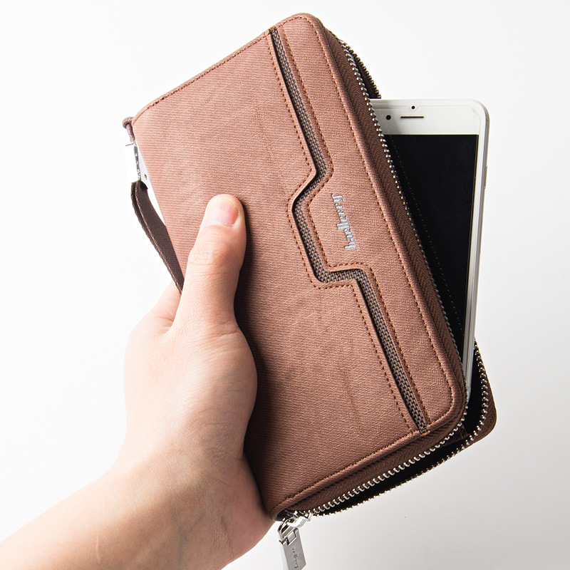 Men's Wallet Leather Zipper Long Purses Male Money Bags Zipper Pocket Credit Card Holders Phone Clutch Wallets Famous Brand 2017 2016 famous brand new men business brown black clutch wallets bags male real leather high capacity long wallet purses handy bags