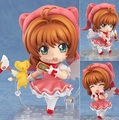 J.G Chen Free Shipping Cute Nendoroid Card Captor Cardcaptor Sakura 10cm Boxed PVC Action Figure Set Model Collection Toy Gift