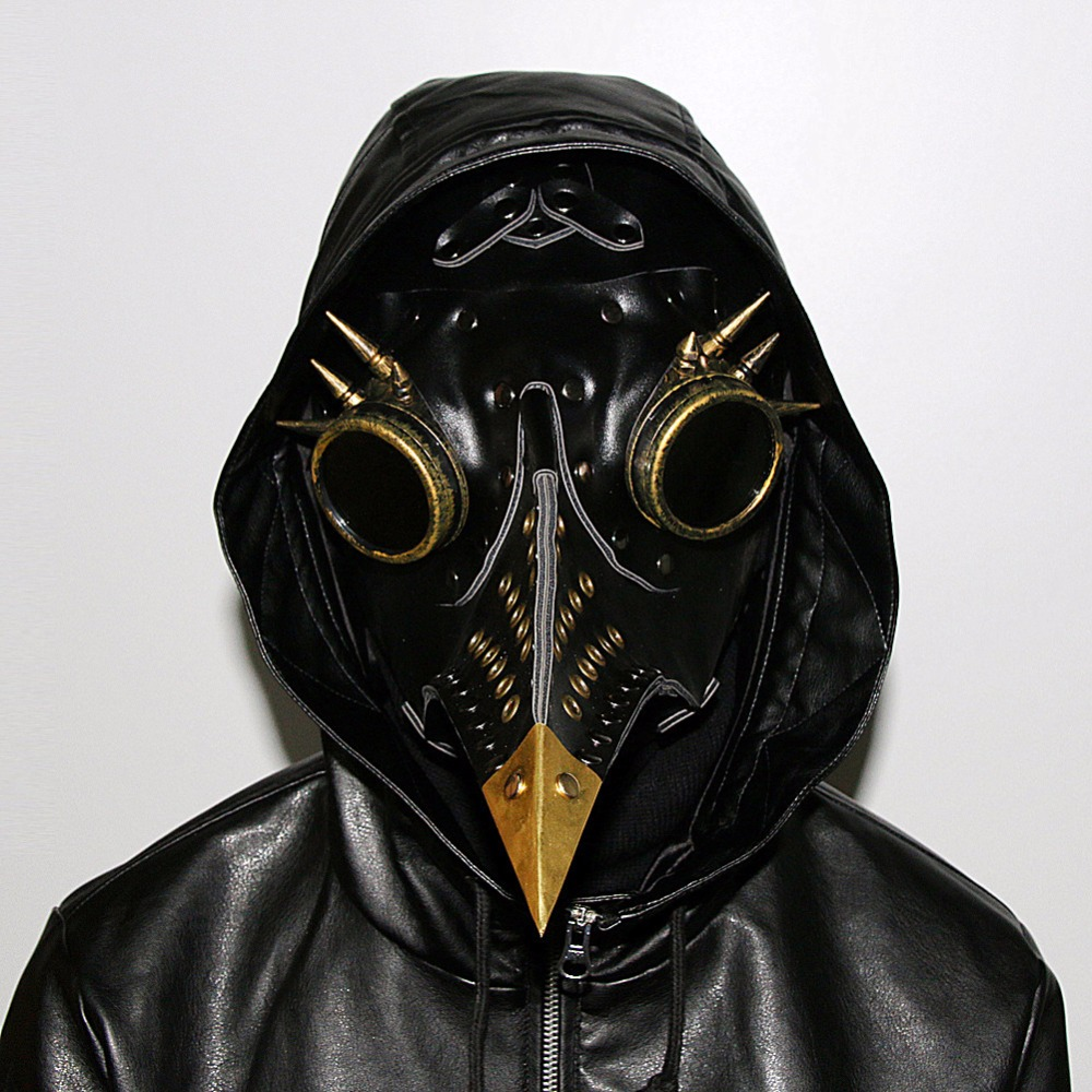 2018new Steampunk PlagueDoctor Long Nose bird Mask PU Full Face Mask Anime Cosplay Bar Dance Party Stage Performance Accessories