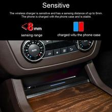Автомобильное беспроводное зарядное устройство Qi Быстрая зарядка для Mercedes-Benz Gle Gls Gl Ml grade Gls 350 Gls 63