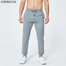 AIRGRACIAS 2020 New Men Pants Streetwear Jogger skinny Mens Pant Sweatpants Men Joggers Tracksuit Men US EU Size S-XXL cheap Casual Drawstring Pleated Full Length Polyester Pockets Midweight Worsted
