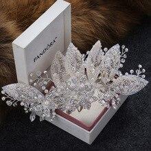 Fermaglio per capelli da sposa in cristallo accessori per capelli gioielli accessori per capelli da donna Cheveux diademi nuziali Bijoux bastone per capelli per donna