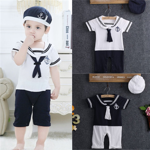 NEWBABY Gas Clutch Shift repeat Baby Short Sleeves Romper Bodysuit For 0-24m Baby