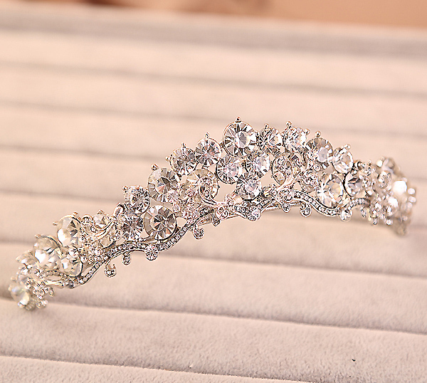 bride wedding crown hair jewelry bijoux women Tiara Headband head crystal rhinestone hair accessories tiara wedding noiva tiara