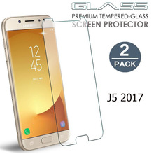 [2 Pack] For Samsung Galaxy J5 2017 Tempered Glass Screen Protector SM-J530F J530FM 9H Hardness Glass Film for Samsung J5 2017