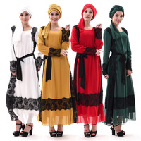 Robe Musulmane Dubai Sashes Selling New Arrival Adult Spandex Marocain African Dresses For Women Muslim Ethnic
