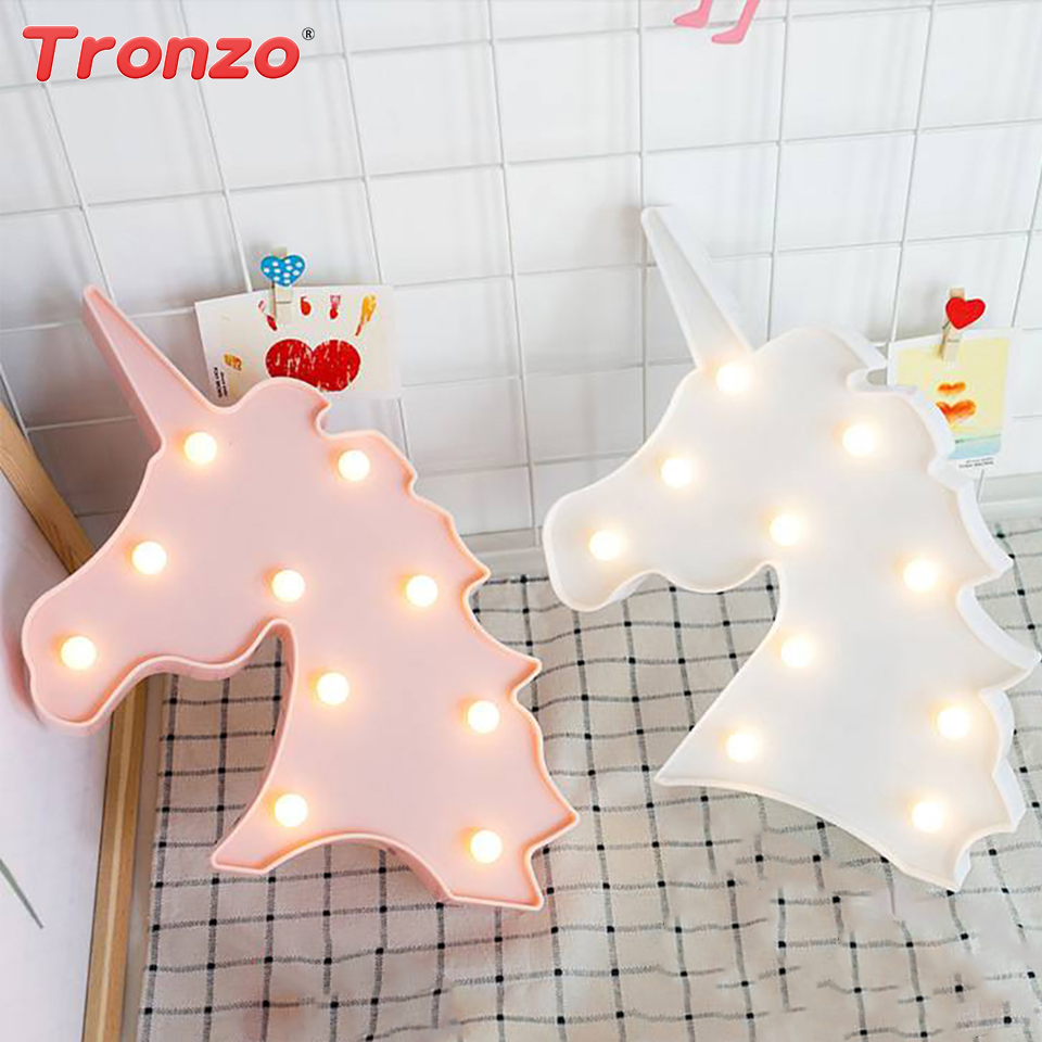 Tronzo LED Unicorn Night Lamp Unicorn Party Bedrom 3D Unicorn Night Light Unicorn Anniversary Birthday Party Decorations Kids
