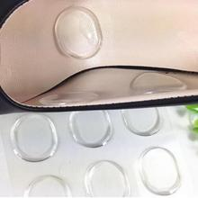 48pcs Mini Round Insoles Shoes Care Silicone Cushion Pad Stickers Pain Relief Foot Care Inserts