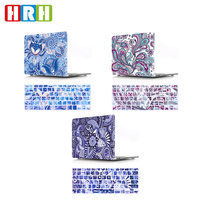 HRH 2in1 Paisley Bloem Siliconen Toetsenbord Cover Laptop Body Shell PC Hard Case voor Macbook Air Pro Retina13 12 15 11 Touch Bar