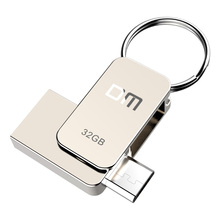 Free shipping DM PD020 8GB 16GB 32GB USB2.0 with double connector for OTG smartphone and computer 100% waterproof metal housing