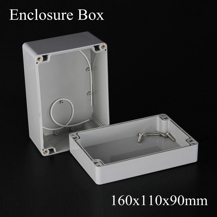 (1 piece/lot) 160*110*90mm Grey ABS Plastic IP65 Waterproof Enclosure PVC Junction Box Electronic Project Instrument Case waterproof abs plastic electronic box white case 6 size