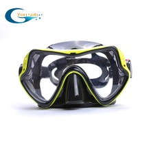 100%Hot-Sale Diving Mask+Dry Snorkel Set Product Equipment /Silicone Mask/Swim Mask Goggle (Yellow)