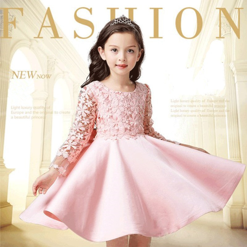 baby girls dress princess lace wedding dress with big bow lucky child clothes a-line girl dresses - baby clothes 2018 spring new high quality fashion excellent girl party dress with big lace bow color purple princess dresses for wedding and birthday
