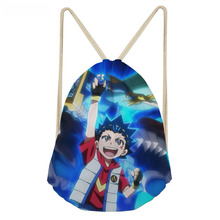 ThiKin Casual Boys Ball Drawstring Bags Hot Game Beyblade Burst Evolution Print Children Backpack Softback Student Sack Bag