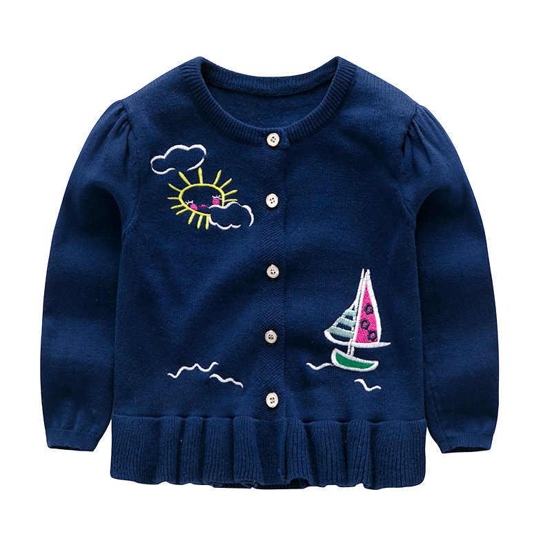 Belababy 브랜드 아기 소녀 스웨터 겨울 2019 새로운 여자 긴 소매 니트 의류 키즈 가을 만화 올빼미 스웨터 여자