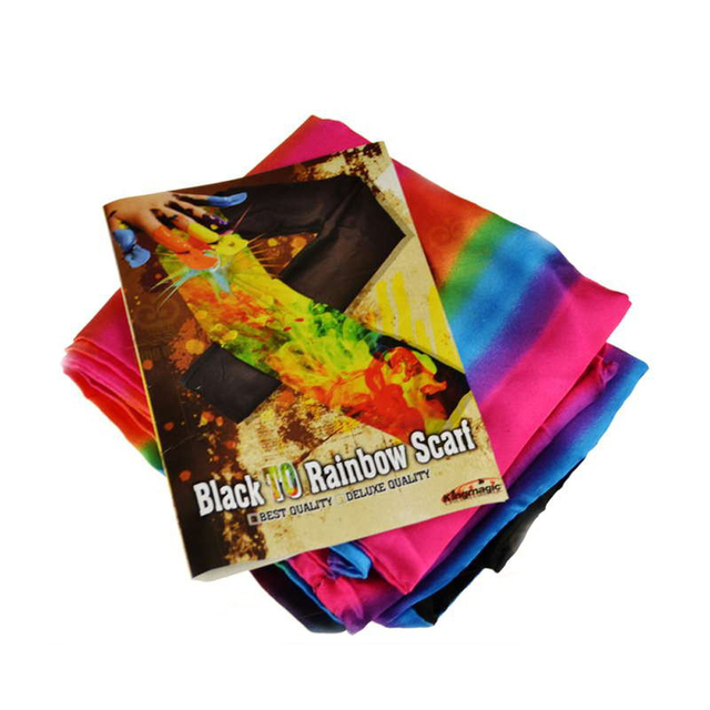 King magic prop negro bufanda a cambio de color cambiante colorido de seda bufanda de seda magic trick magic trucos envío libre