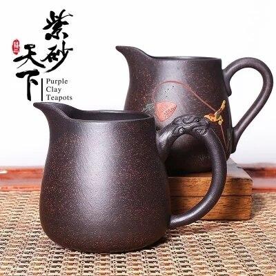 Zisha Tea Cup GaiWan,Chahai,Purple Clay Filter Mug,Kung Fu Tea Set Tea Strainer Fair Cup Water Mug Puer Tea Bowl Drinkware