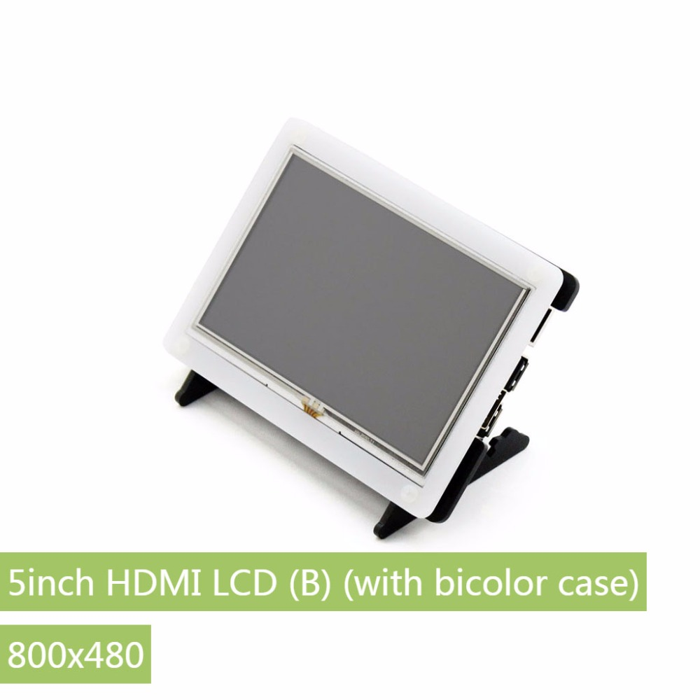 Parts Raspberry Pi LCD 5inch HDMI LCD (B) (with bicolor case) 800*480 Touch Screen Supports all Raspberry Pi 3 B Banana Pi / Pro modules 7inch hdmi lcd b with bicolor case 800 480 capacitive touch screen for raspberry pi 3 2 b