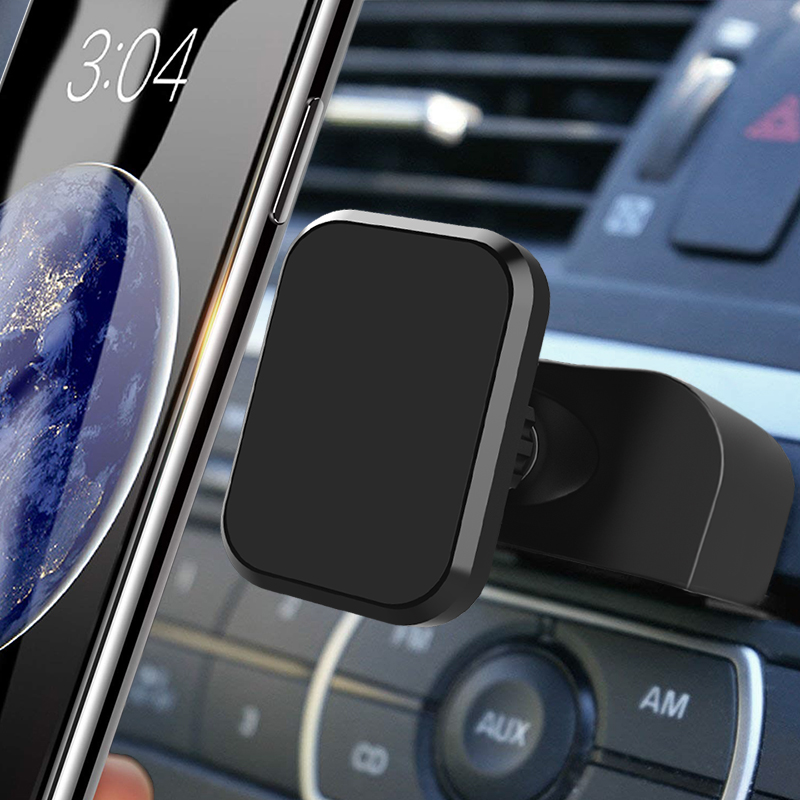 XMXCZKJ Rectangular Head Universal CD Slot Magnetic Car Mount Holder For Cell Phones And Mini Tablets With Fast Swift-Snap Tech