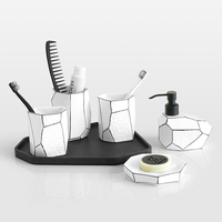 bathroom decoration accessories toothbrush holder toothpaste dispenser bathroom sets 5pcs
