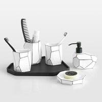 bathroom decoration accessories toothbrush holder toothpaste dispenser bathroom sets 5pcs