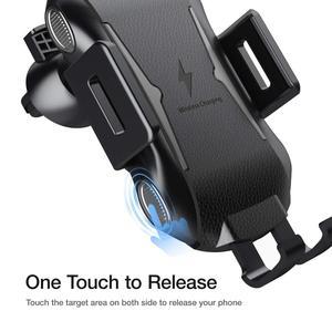 Image 2 - Qi bezprzewodowa ładowarka samochodowa góra auto mocowanie 10W szybkie ładowanie uchwyt telefonu dla iPhone 11 8 X XR XS Samsung S20 S10 S9 uwaga 10 9