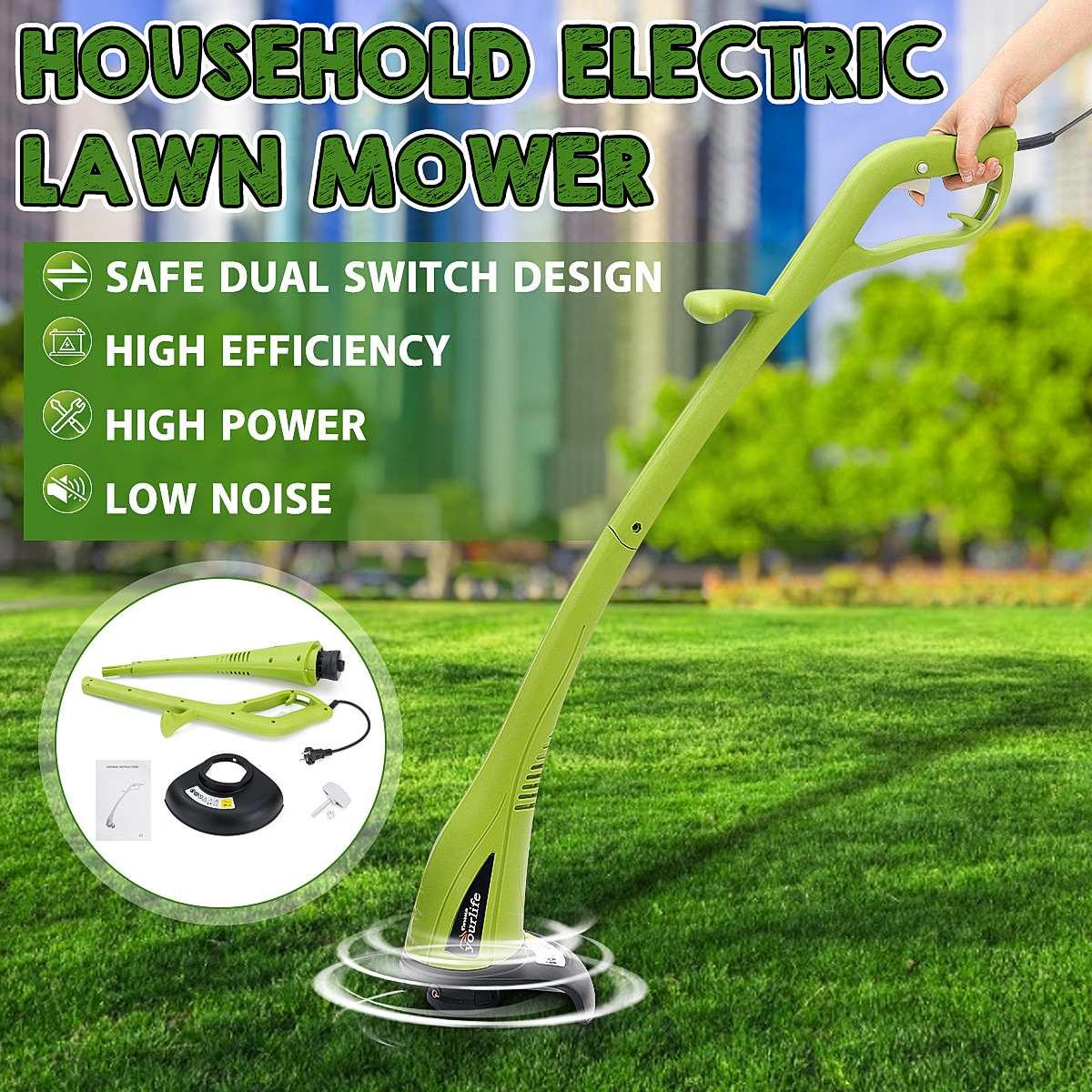 300W Electric Lawn Mower 12500rpm 19cm Grass Trimmer Hand Cleaner Grass Cutter Machine Detachable Lawnmower Garden Power Tools
