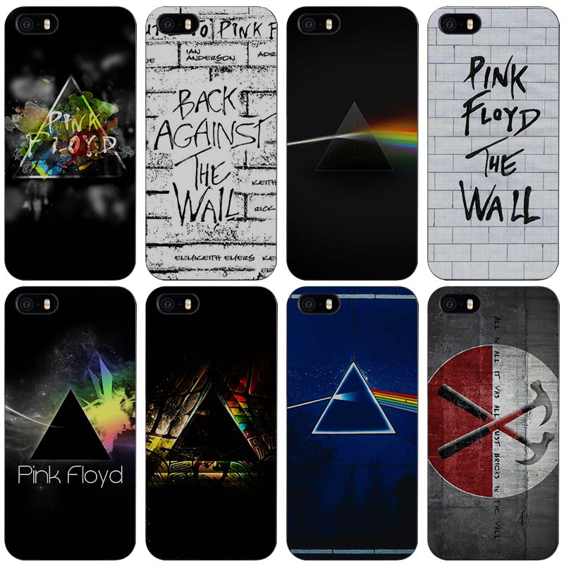 pink floyd Hard Black Plastic Case Cover for iPhone Apple 4 4s 5 5s SE 5c 6 6s 7 7s Plus
