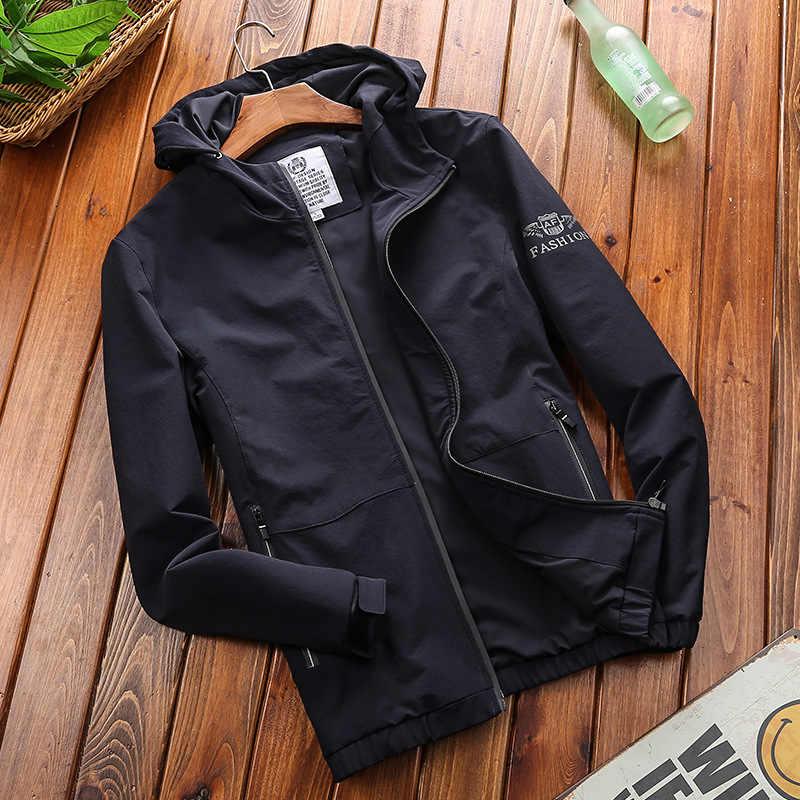 AFS JEEP Rahat Bombacı Ceket Erkekler Rüzgar Geçirmez Su Geçirmez İlkbahar sonbahar Erkek Ceketler Artı Boyutu 4XL jaqueta masculina Hızlı Kuru Ceket