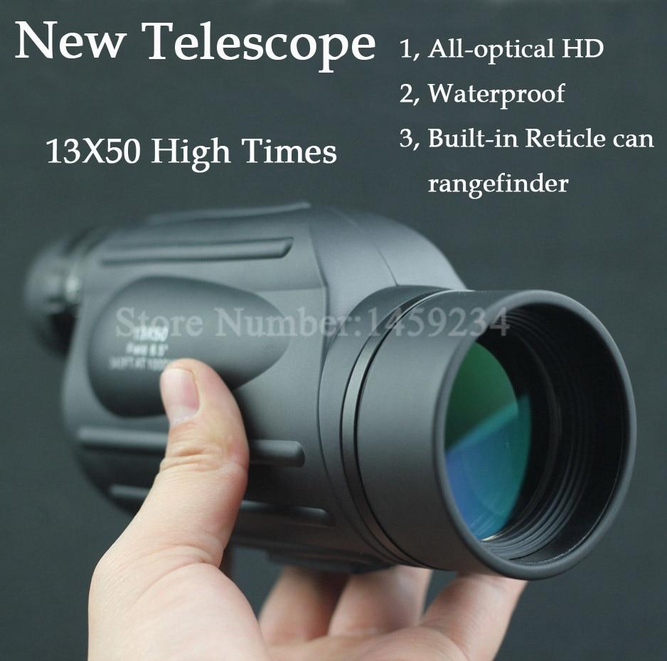 New high times waterproof Range Finder telescope Distance Measuring FMC Monocular Telescope binoculars with Reticle for