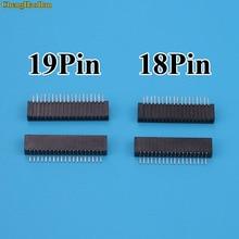 2 stücke 18Pin 19Pin Schlüssel Film Buchse für Sony PS2 Flex Band FLEX Kabel Verbinden Port Leitfähigen Film Buchse Stecker