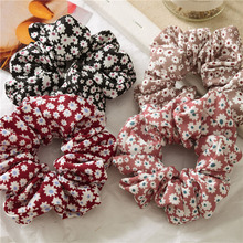 2019 Girl Sweet Flowers Hair Rope Fashion Summer Elastic Srunchies Women Ponytail Holder Rings Accessories