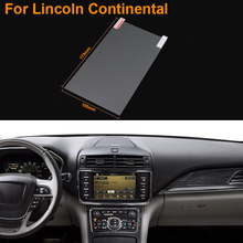 Car Styling 8 Inch GPS Navigation Screen Steel Protective Film For Lincoln Continental Control of LCD Screen Car Sticker