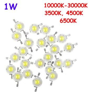 1000pcs 1W 100-110LM Cool White 10000K 20000K 30000K Warm White 3500K Natural White 4500K Pure White 6500K LED Bead Ligh Parts
