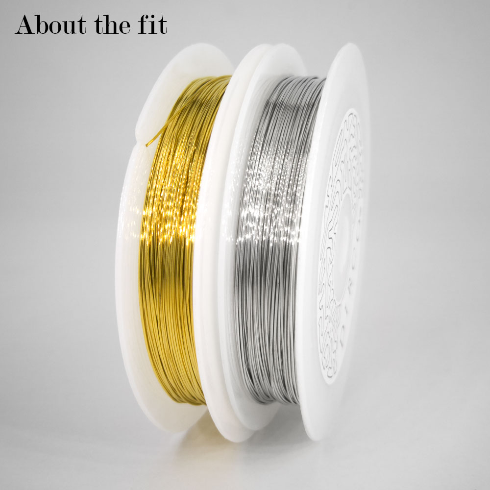 About the Fit 0.3mm-0.6mm Copper Metal Wire Mesh Beads Cord Crafting Collar DIY