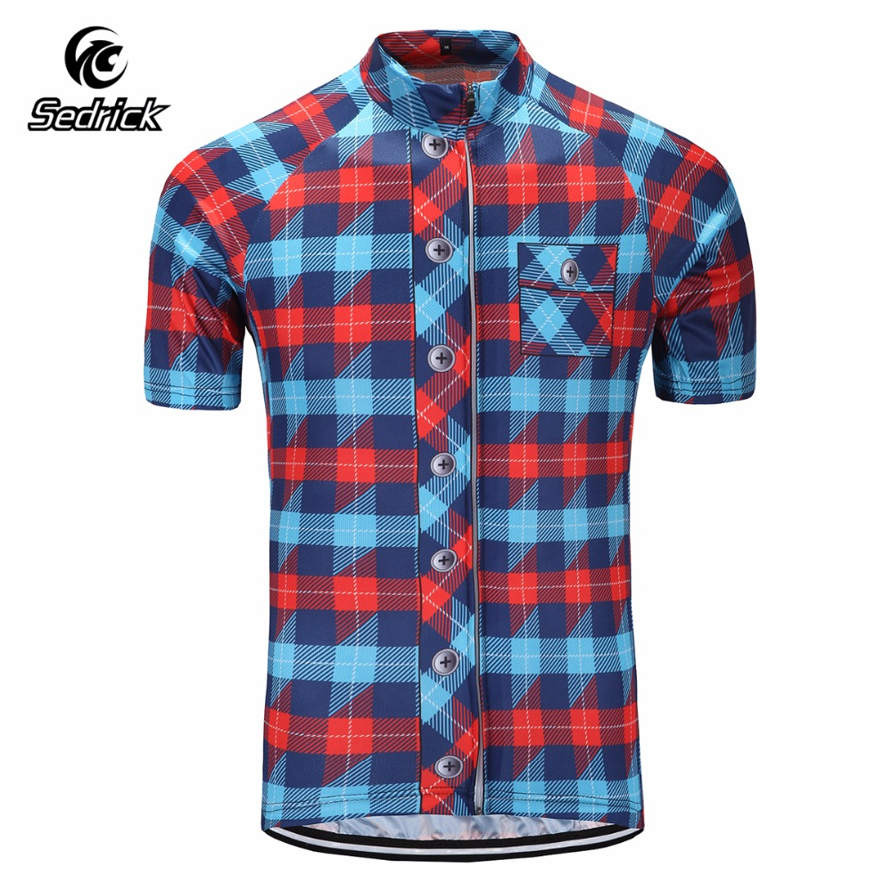 Sedrick Brand Quick Dry Breathable Cycling Jersey Short Sleeve Summer Men's Shirt Bicycle Wear Racing Tops Bike Cycling Clothing