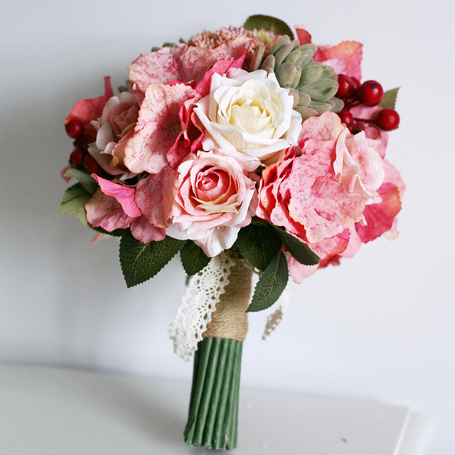 Natural Touch Fabric Flowers Bouquet, High quality Simulation ...