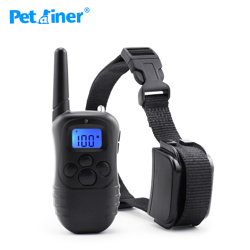 Petrainer 998DR 1 300M Remote Electric Shock Dog Training Collar With LCD Display