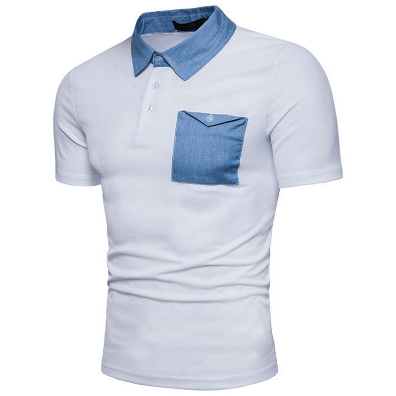 Laamei High Quality New Summer Short Sleeve   Polo   Shirt Men's Fashion Pocket Breathable Casual Male   Polo   Shirts Cotton Top Tees