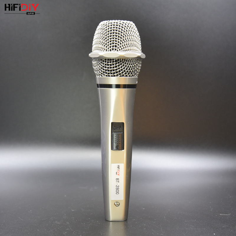 HIFIDIY LIVE Professional audio Wired Microphones karaoke Mic Music Player Singing Recorder speaker KTV Handheld Microphone