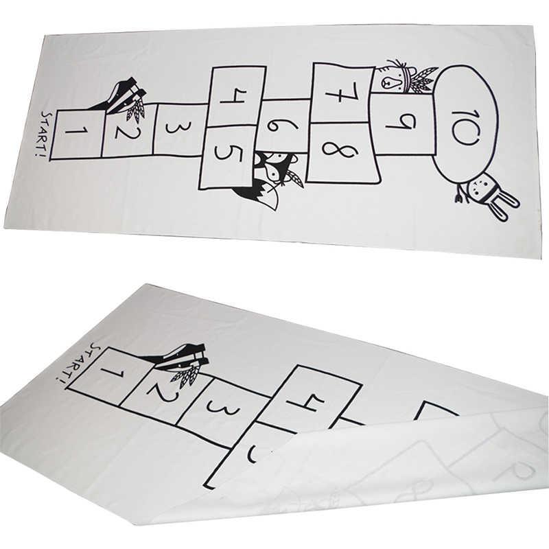 Детский игровой коврик украшение детской комнаты ковер в детской цифровой шашки игровой коврик Ins стиль печатных мультфильм детские развивающие игры