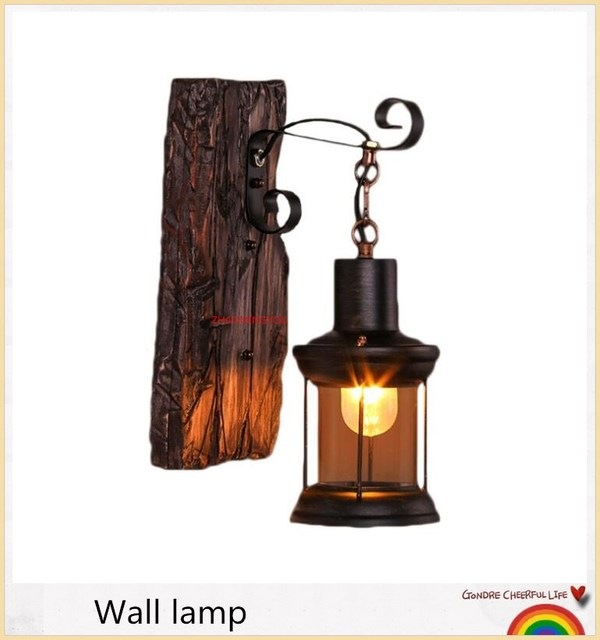 YOU Plated Industrial Wall Lamp Retro Loft LED Wall Light Lamparas De Pared Stair Bathroom Iron Wall Sconce Abajur Luminaria